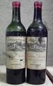 2 Bouteilles Ch; LAROSE Niveaux bas et vidange? présumées 1940, bouchons neutres.  Levels low, probably from the 1940's, corks ilegibles.  N/M