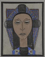Marie VASSILIEFF (1884-1957)    Personnage féminin, 1957   Pastel gras sur papier, signé et daté en bas à droite   30,3 x 23 cm   2500/3000   L'authenticité de cette aeuvre a été confirmée par Monsieur Claude BERNES