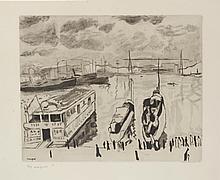 Albert MARQUET (1875-1947)    Le Port   Gravure sur papier n°4/19, signé en bas à droite, éditions Villon 1924   39,2 x 50 cm