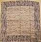 LE DUC Paris Foulard à rayures en soie bleu et blanc - Dimensions : 75 x 76 cm -  Size : 29,5 x 29,9 in. (fils tirés/pulls)