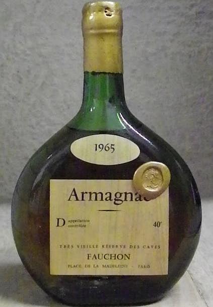 1 BOUTEILLE ARMAGNAC - Fauchon Niveau 4 cm.Level 4 cm. 1965
