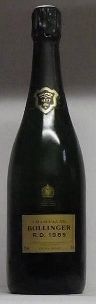 1 BOUTEILLE CHAMPAGNE BOLLINGER R.D. Dégorgée en juin 2000 1985