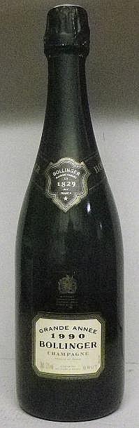 1 BOUTEILLE CHAMPAGNE BOLLINGER GRANDE ANNÉE   1990