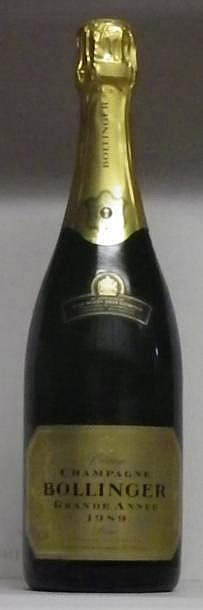 1 BOUTEILLE CHAMPAGNE BOLLINGER  1989
