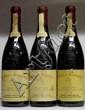 3 BOUTEILLES BEAUCASTEL Étiquettes tachées, 1 légèrement griffées. Labels stained, 1 scratched. 1995