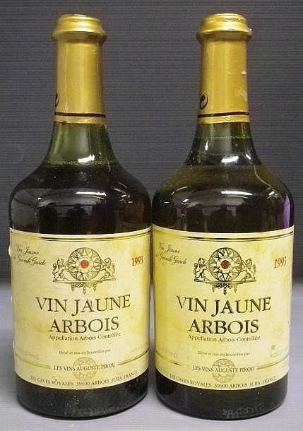 2 BOUTEILLES VIN JAUNE - A. PIROU 1993