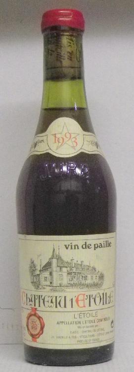 1 BOUTEILLE VIN DE PAILLE - CHÂTEAU DE L'ETOILE Capsule cire abimée. Wax capsule slightly damaged. 1993