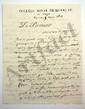 COLLÈGE HENRI IV. J.-A. AUVRAY, proviseur du Collège royal de Henri IV, auteur de lexiques latins. L.A.S., Paris 5-6 mars 1824, au marquis Trophime-Gérard de LALLY-TOLENDAL ; 4 pages in-4 à en-tête Collège royal de Henri IV. Le Proviseur, et 1 page
