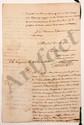 CAYENNE. André-Aimé PARISET (1795-1872) administrateur colonial. 2 MANUSCRITS signés et 3 L.A.S., Cayenne 1828-1829, au marquis de LALLY-TOLENDAL ; 52 pages in-fol. ou in-4, une adresse (qqs mouill.).