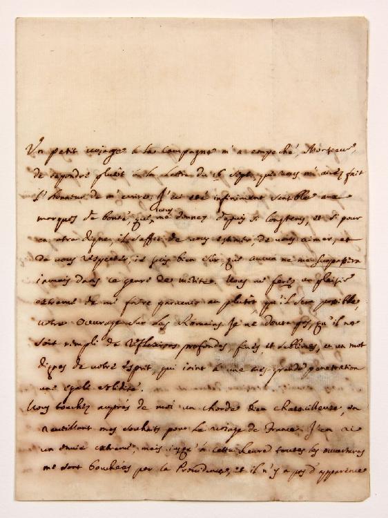 Gasparo CERATI (1690-1769) prêtre oratorien et littérateur italien, recteur de l'Université de Pise. L.A.S., [fin septembre-début octobre 1733], à MONTESQUIEU ; 3 pages in-4 (qqs lég. fentes et mouill.). [CM 377]