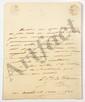 Jules, prince de POLIGNAC (1780-1847) ambassadeur et ministre. 4 L.A.S., 1820-1826, au marquis de LALLY-TOLENDAL ; 6 pages et demie in-4 ou in-8, une adresse.