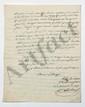 Alexandre ROMEUF (1772-1845) général. 2 L.A.S., et 3 pièces jointes, Lyon et Paris 1820-1821, au comte de LALLY-TOLENDAL ; 7 pages in-fol. ou in-4, et 7 pages et quart in-fol. ou in-4.