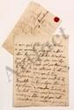 Claudine Guérin de TENCIN (1682-1749) femme de lettres, animatrice d'un salon littéraire influent. 2 L.A., [fin avril ? et juin-juillet 1734], à MONTESQUIEU à Paris ; 2 pages in-8 et 2 pages in-4, adresses avec cachets cire rouge aux armes. [CM 386
