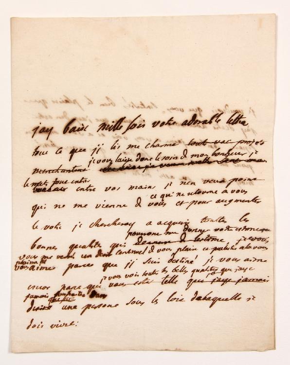 Charles de Secondat, baron de La Brède et de MONTESQUIEU. L.A. (minute) ; 1 page et demie in-4.