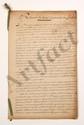 Thomas-Arthur de LALLY-TOLENDAL. 2 MANUSCRITS avec additions et corrections autographes, Resumé de tout le procès du Cte de Lally et Précis du procès intenté au Cte de Lally, [1766] ; 2 cahiers de 19 pages et 34 pages grand in-fol., liés d'un ruban