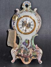 VINTAGE CAPODIMONTE WEST GERMANY MANTLE CLOCK W/ ORIG. TAG