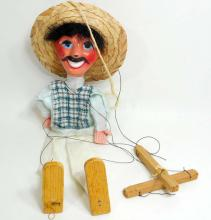 VINTAGE MEXICAN MARIONETTE DOLL - APPROX. 13