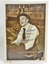 VINTAGE AUTOGRAPHED PHOTO OF THE ENTERTAINER JIMMY DURANTE