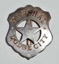 OLD WEST STYLE DODGE CITY MARSHAL BADGE