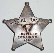 OLD WEST STYLE SPECIAL TEXAS RANGER BADGE