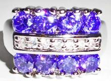 14K WHITE GOLD FILLED AMETHYST RING - SIZE 7