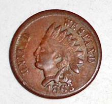 1863 CIVIL WAR ERA ONE COUNTRY PIE BAKER ADVERTISING INDIAN HEAD TOKEN