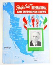 1950 VINTAGE PACIFIC COAST INTERNATIONAL LAW ENFORCEMENT NEWS