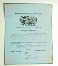 1858 ANTIQUE SEVENTH REGIMENTAL ORDERS NO.11