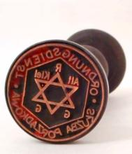 NAZI GERMAN GHETTO POLICE WAX SEAL RUBBER STAMP