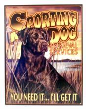 SPORTING DOG ADVERTISING METAL SIGN