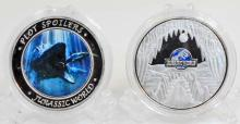 JURASSIC WORLD SILVER CLAD COLLECTABLE COIN