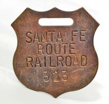 SANTA FE ROUTE RAILROAD WATCH FOB