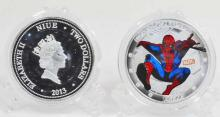 SPIDERMAN SILVER CLAD COLLECTABLE COIN
