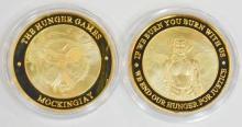 HUNGER GAMES GOLD CLAD SOUVENIR COIN