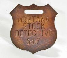 MONTANA STOCK DETECTIVE WATCH FOB