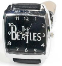 WATCH/THE BEATLES/SQ BLACK FACE & BAND