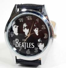 WATCH/THE BEATLES/PICTURE ON FACE BLACK BAND