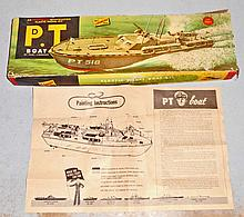 VINTAGE C. 1950'S LINDBERG P.T. BOAT BOX AND INSTRUCTIONS