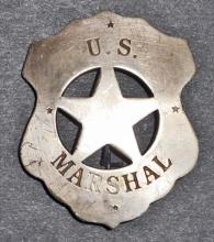 US MARSHALL CUT OUT STAR SHIELD BADGE