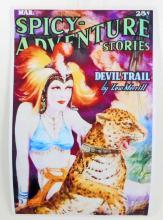 DEVIL TRAIL SPICY ADVENTURE PULP STORIES POSTER PRINT