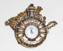 STEAMPUNK PERFUME BOTTLE POCKET WATCH WITH CHAIN