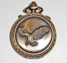 EAGLE POCKET WATCH WITH CHAIN