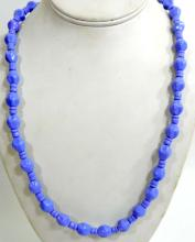 LAVENDER BEADED ESTATE COSTUME JEWELRY NECKLACE