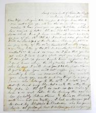 1862 ANTIQUE ROSWELL SCOTT HAND WRITTEN LETTER, MARCH 22ND