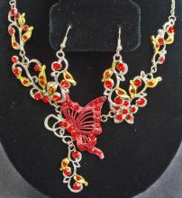 ESTATE JEWELERY NECKLACE & EARRINGS