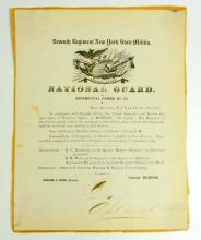 1857 ANTIQUE SEVENTH REGIMENTAL ORDER NO.10