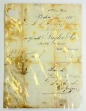 1873 ANTIQUE BOSTON BILL HEAD RECEIPT