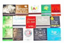 LOT OF 15 VINTAGE ADVERTISEMENT MATCH BOOKS