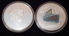 1 OZ. COMMEMORATIVE 100TH ANNIVERSARY RMS TITANIC ELIZABETH II SILVER CLAD COIN