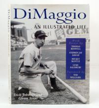 DIMAGGIO: AND ILLUSTRATED LIFE. HARDCOVER BOOK WITH DUST JACKET